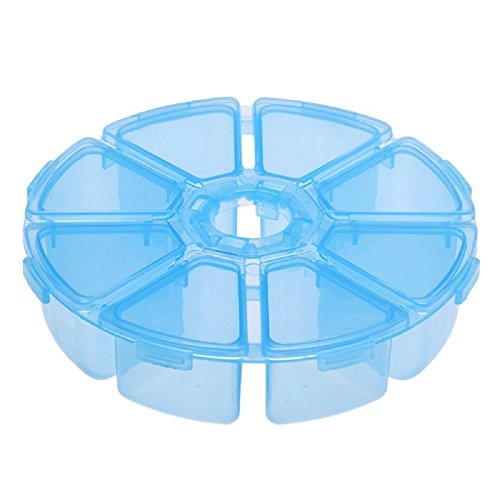 Generic New 8 Grids Plastic Separated Case Desktop Storage Box Jewelry Container blue