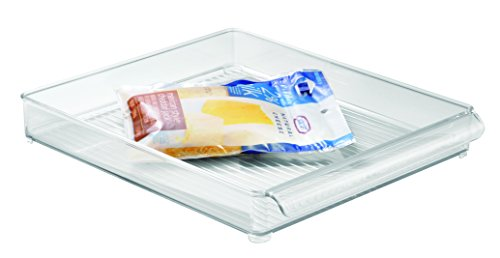 InterDesign Refrigerator and Freezer Storage Organizer Tray for Kitchen - 12 x 2 x 145 Clear