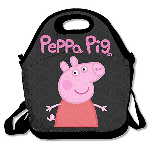 Peppa Pig Lunch Box Bag For Kids And Adultlunch Tote Lunch Holder With Adjustable Strap For Men Women Boys GirlsThis Design For Portable Oblique Crossdouble Shoulder