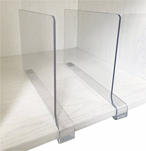 2PCS Multifunction Acrylic Shelf DividersClosets Shelf And Closet separator for Wood ClosetOnly Need to Slide to Adjust the Appropriate Distance
