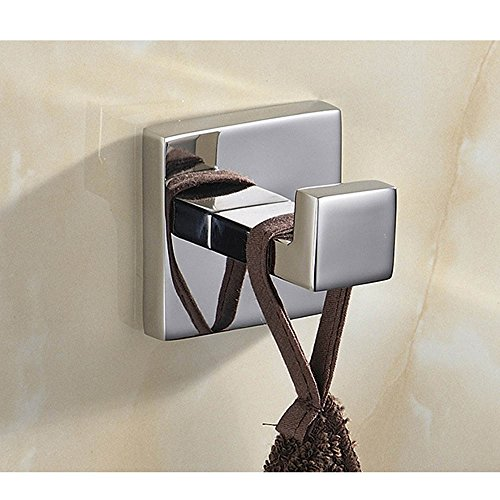 Mellewell Contemporary Bathroom Robe Towel Hook Coat and Hat Hanger Wall Mount Polished Stainless Steel 06CP10